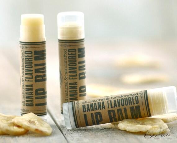 Banana LIP BALM ~Banana Lip butter~Organic Skin Care~bath and beauty~hand poured lip balm~natural lip balm~rustic lip balm~Lip care