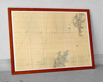 Orkneys and Shetland OS Map - British War Office - Old Map of Scotland | Vintage sea chart, Lerwick, Orkney, Hoy, nr. Aberdeen, Wick,