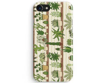 Side cactus drawings - iPhone X case, iPhone 8 case, iPhone 8 Plus, iPhone 7 case, Samsung Galaxy Note 8 case 1C171