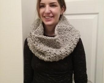 Chunky Knit Scarf - Cobblestone Cowl