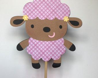 Lamb cake topper, baby shower Centerpiece, lamb themed baby shower, lamb birthday party, farm animals cake topper, lamb cupcake toppers.