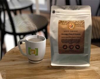 NICARAGUA FINCA el ENCANTO   100% Fresh Roasted Coffee Beans   Medium - Dark Roast   Whole Bean or Ground   12 oz.