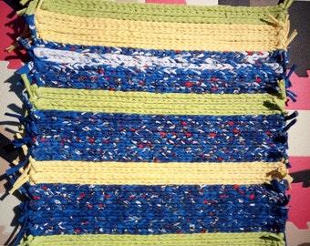 T shirt yarn carpet net-Tapestry wall, carpet trenado trapillo mesh, trenado tapestry wall