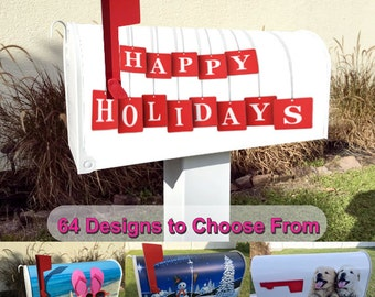 Happy Holidays Magnetic Mailbox Cover