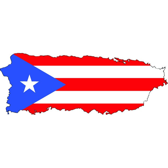 Puerto Rico Rican Flag Map Caribbean San Juan IslandSVG EPS - Map of puerto rico caribbean islands