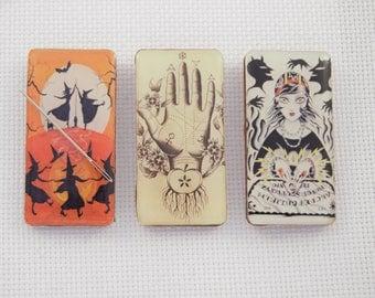 Witches Dancing Needleminder / Ouija Needleminder / Palmistry Needleminder
