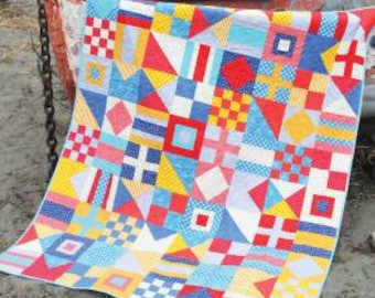Cluck cluck Sew Nautical quilt pattern, 3 sizes