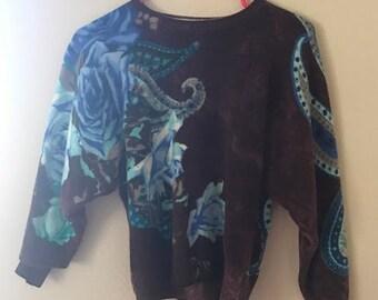 Vintage floral sweater