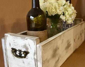 Rustic Wooden Centerpiece Box, Rustic Wooden Planter Box, Wedding Centerpiece, Farmhouse Decor