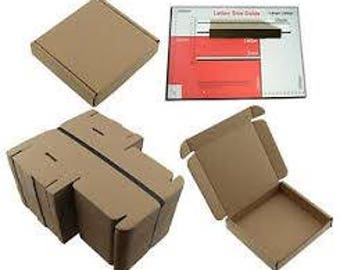 10cm x 10cm x 2cm Brown Cardboard Box Square Mailing Large Letter