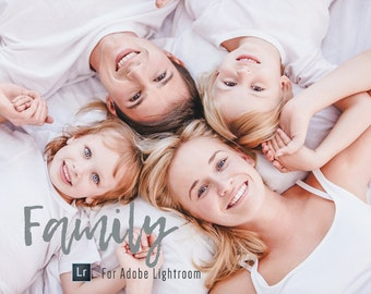 Family Portraits 25 Lightroom Presets Professional Photo Editing for Portraits, Newborns, Weddings By LouMarksPhoto