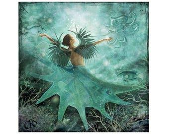 Aqua Angel Canvas