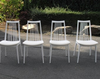 Chair white shabby wood country house 3pcs available