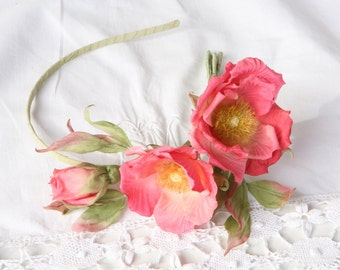 Silk Flower headband  floral headbands silk flowers artificial flowers
