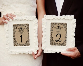 Wedding table numbers, rustic table numbers for wedding, wedding table sign, wedding decoration ideas, recycle card wedding numbers