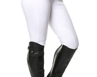 Ladies White Horse Riding Breeches
