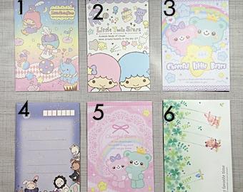 Kawaii memo and sticker flake samples