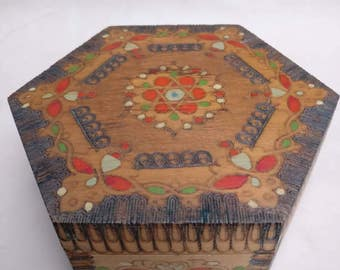 Vintage Wooden box made in Bulgaria