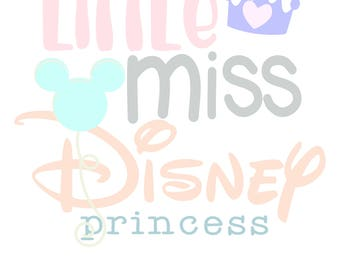 little miss disney princess svg file, svg cut file, cricut cut file, silhouette cut file, png file, baby svg, new baby svg, easter svg