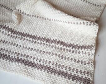 Heirloom Crochet Blanket/ Modern Crochet Blanket/ Afghan  Blanket/ Home decor