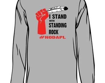 standing rock #nodapl support shirt no big oil pipelines indian protest native american Lakota Dakota north dakota