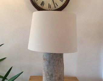 Driftwood tree trunk lamp