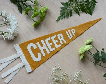 Felt Pennant Flag in Mustard // Cheep Up