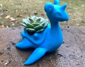 Lapras Pokemon Succulent Planter Pot 3D Printed; Pokemon Planter