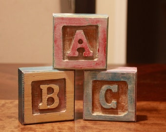 Rustic Baby letters decor
