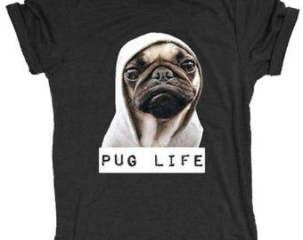 Pug Life Hoodie Supersoft Triblend Women's Crewneck T Shirt