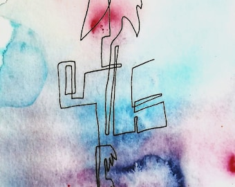 Abstract Watercolour Print || Limited Edition