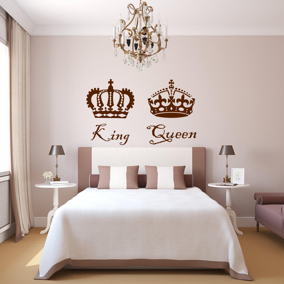 King and queen decal king and queen decor king and queen for 12x16 master bedroom