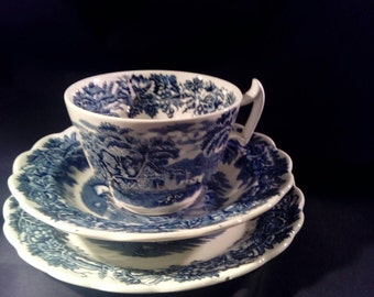 Booths British Scenery Cup Saucer &Side Plate.