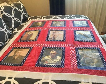 9 photo/image made to order quilt