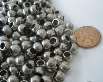 45 Silver Spacer Beads 4mm/ Spacers/ Connectors/ Silver Round Spacer Beads SB101