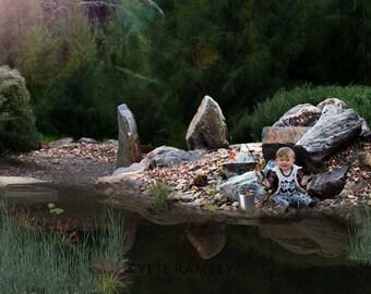 Fishing, Overlay, PSD, Photo Manipulation, River Rocks, Country