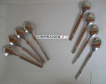 Set of 8 teaspoons AIR FRANCE airline
