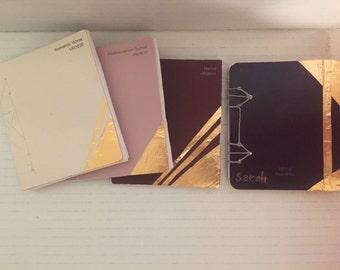 Panetone & metallic handbound notebooks