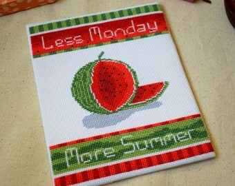 Watermelon sampler cross stitch pattern pdf watermelon cross stitch pattern summer cross stitch pattern modern cross stitch pattern pdf