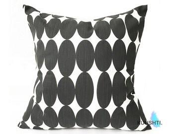Black and White Cushion Cover - Modern Cushion- Boys Room- Scandi cushion- Monochrome- Cotton Cushion- Scandinavian style- 45 x 45