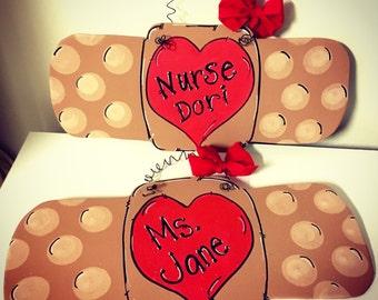 Nurse Bandaid  Door Hanger