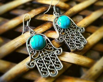 Evil eye turquoise earrings,turquoise earrings, turquoise jewerly
