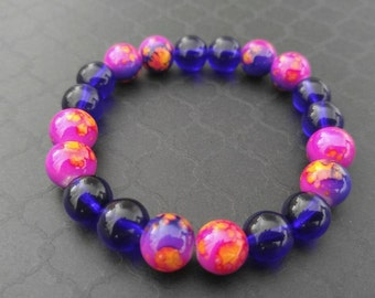 Pink, Purple and Blue Bracelet