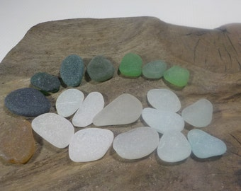20 flawless smoothed frosted sea glass pieces-perfectly smoothed Genuine Sea Glass-for jewelry-Rare beach glass-Home Decor#294#