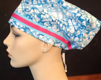 SURGICAL SCRUB HAT abstract pattern