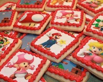 Super Mario Bros, Super Mario, Mario, Luigi, Nintendo, Princess Peach, Yogi, Bowser, Toad, Toadette, Super Mario Bros Cookies, Sugar Cookies