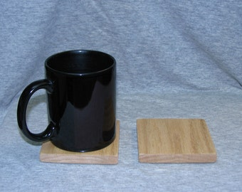 Set of 2 Oak Drink Coasters