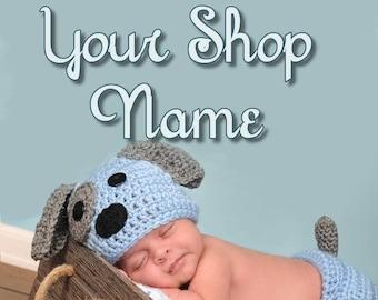 Knitting Banner Set, Crochet Banner Set, Baby Banner Set, Shop Banner Set, Banner Design, Custom Banner, Graphic Design, Premade Banner