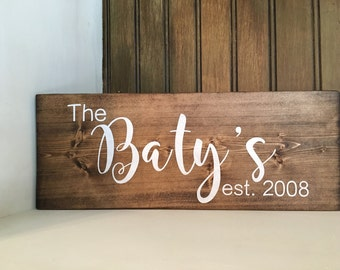 Personalized Last Name Sign