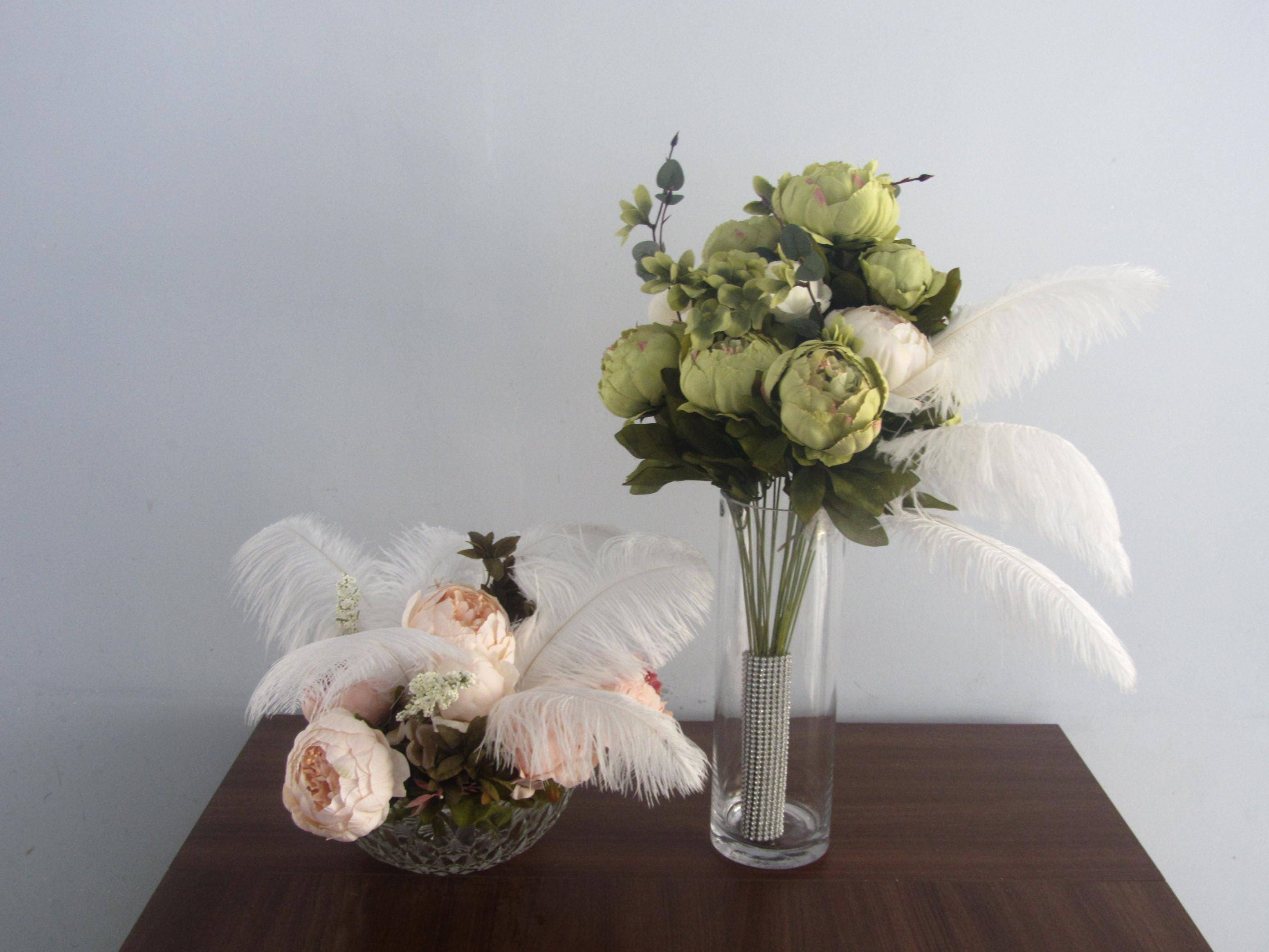 Free shipping 100 ostrich feathers for wedding feather centerpiece sold by ostrichfeatherscindy reviewsmspy